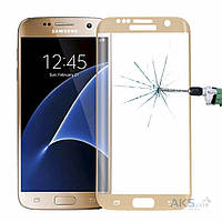 Защитное стекло Tempered Glass 3D Full Cover Samsung G935 Galaxy S7 Edge Gold
