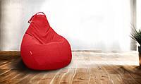 Кресло-мешок груша/Микро-рогожка/Красный/Большой размер/Основной чехол
