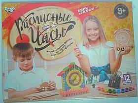Дерев'яна розфарбування Годинник розписні R4-01-03 Danko-Toys Україна