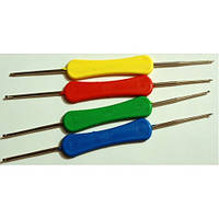 Крючок с пластиковой ручкой, двухсторонний №1,0-1,9, фото 1