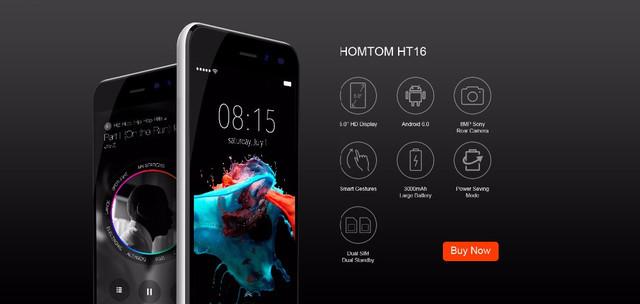 Характеристики смартфона Homtom HT16