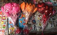 Сердечко на палочке, валентинка на палочке, 6 шт