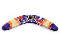 Бумеранг расписной фиолетовый (31,5х10х1 см)