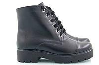 Черные зимние кожаные ботинки Астра-12к