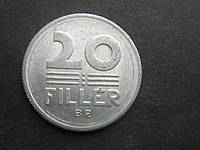 Монета 20 филлеров Венгрия 1982