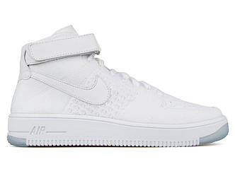 Женские кроссовки  Nike Air Force 1 Ultra Flyknit Mid White