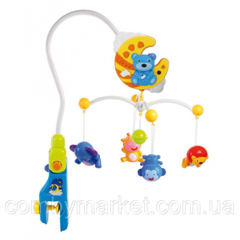 Музыкальный мобиль Baby Mix HS-1377M Мишки с пультом управления