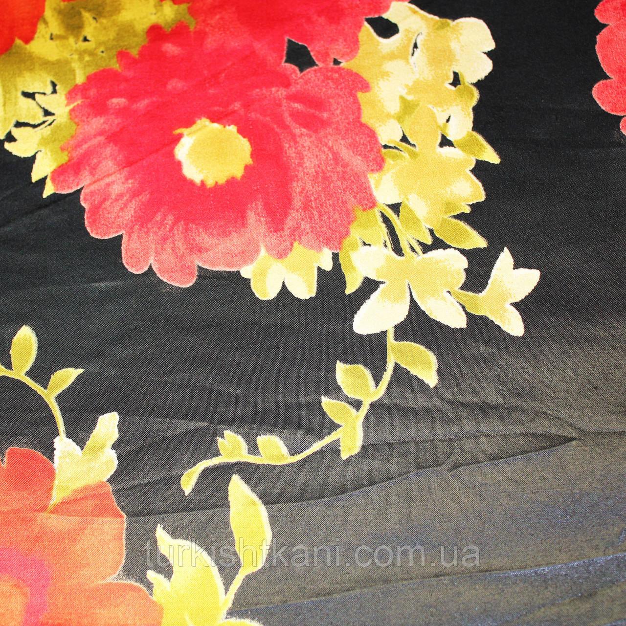Ткань  Атлас Цветной