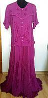Костюм блуза юбка большого размера Офелия, 50-54
