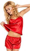 Атласная пижама красная