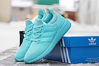 Кроссовки Adidas Ultra Boost женские мятные плотная сетка