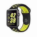 Спортивний ремінець з перфорацією Primo для годин Apple Watch 42mm / 44mm - Black&Yellow L, фото 2