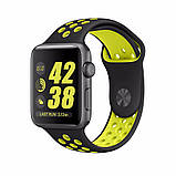 Спортивный ремешок с перфорацией Primo для часов Apple Watch 42mm / 44mm - Black&Yellow L, фото 2