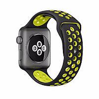 Спортивный ремешок для Apple Watch 42mm Black-Yellow