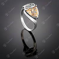 Серебряное кольцо с фианитом (шампань). Артикул П-127