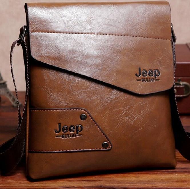 Мужская кожаная сумка Jeep. Модель 04266