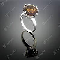 Серебряное кольцо с раухтопазом. Артикул П-129