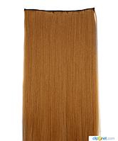 Накладные волосы локоны на клипсах,шиньон,трессы 60 см цвет рыжий