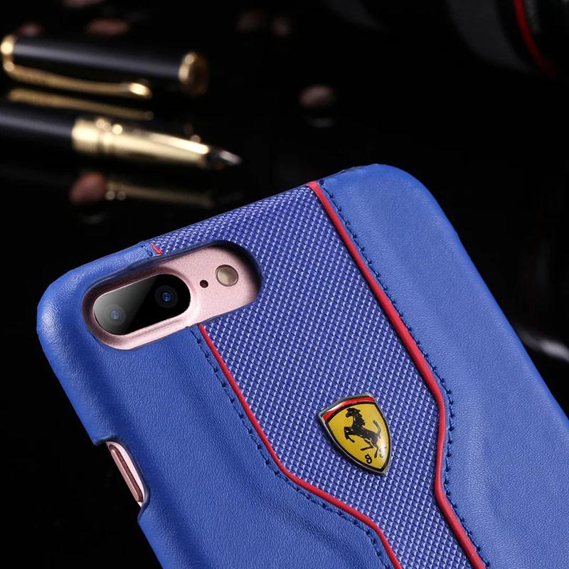 Кожаный чехол Ferrari для iPhone 7 Plus