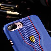 Кожаный чехол Ferrari для iPhone 7 Plus, фото 1