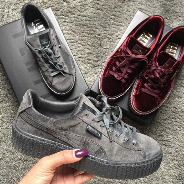 Женские кроссовки Puma Rihanna Silver Velvet