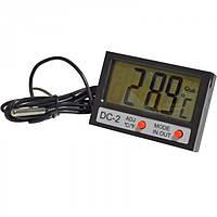 Термометр цифровой с выносным датчиком и часами DС-2