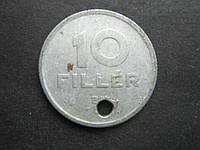 Монета 10 филлеров Венгрия 1963 фауна птица с дыркой
