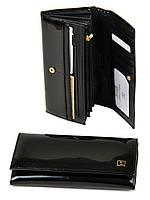 Большой кожаный кошелек Bretton. Лаковые кошельки женские. Пять цветов.