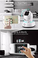 Камера Digoo BB-М2 беспроводная ночного видения IP Wi-Fi, HD P2P качество, видеоняя ONVIF белый цвет