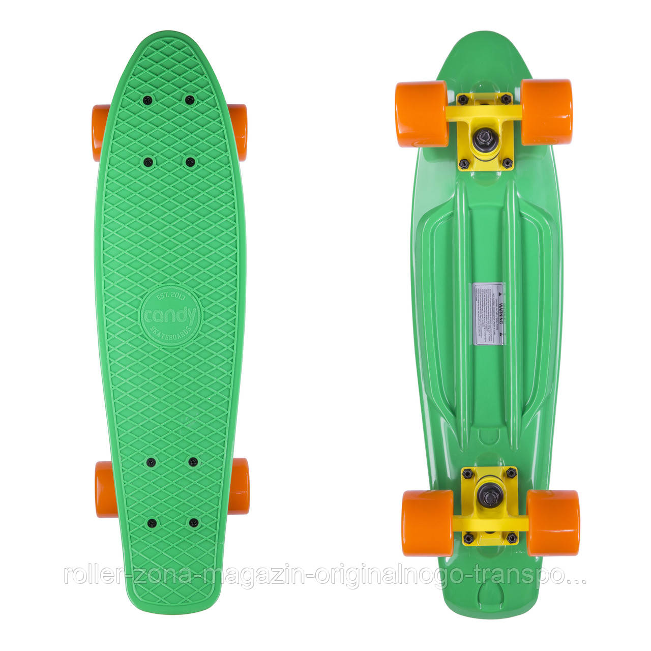 "Penny Board Candy 22"" Green/Orange"