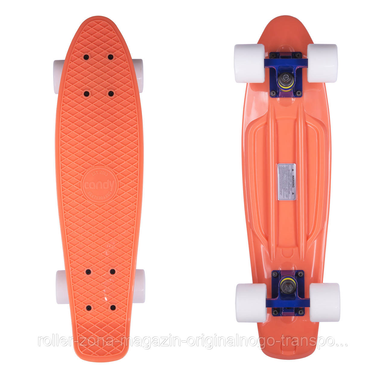 "Penny Board Candy 22"" Orange/White"