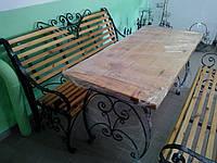Стол кованый садовый