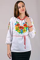 Эксклюзивная женская сорочка вышиванка украшена очень красивой вышивкой, на рукавах и полочке