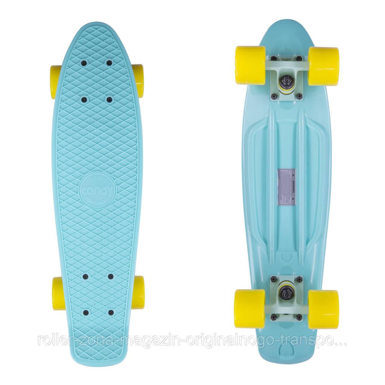 "Penny Board Candy 22"" Mint/Yellow"