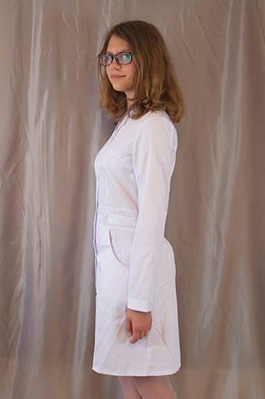 Медицинский качественный женский белый халат, ткань котон., фото 2