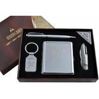 Подарочный набор Moongrass AL116 Портсигар, ручка, нож, брелок