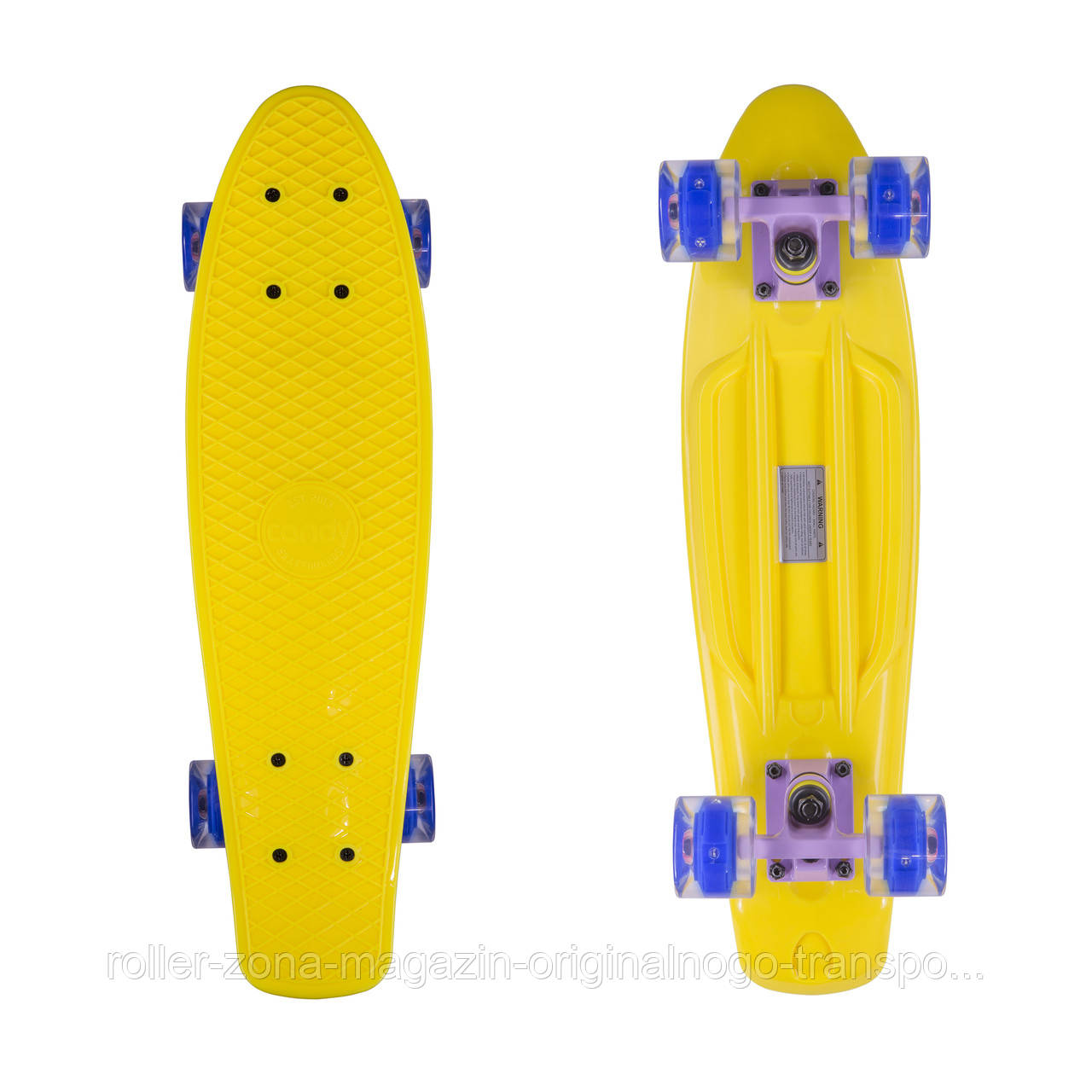 "Penny Board Candy 22"" Yellow/LED"