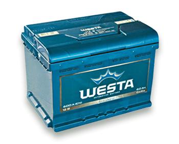Аккумулятор Daewoo Lanos Sens (Део Ланос Сенс) WESTA (веста) 60 Ач