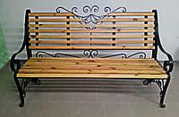 Набор кованый стол + 2 скамейки