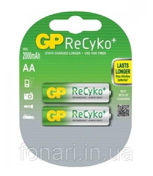 Аккумулятор GP ReCyko+ Ni-Mh AA (210ААHC-U2 R6), 2100mAh