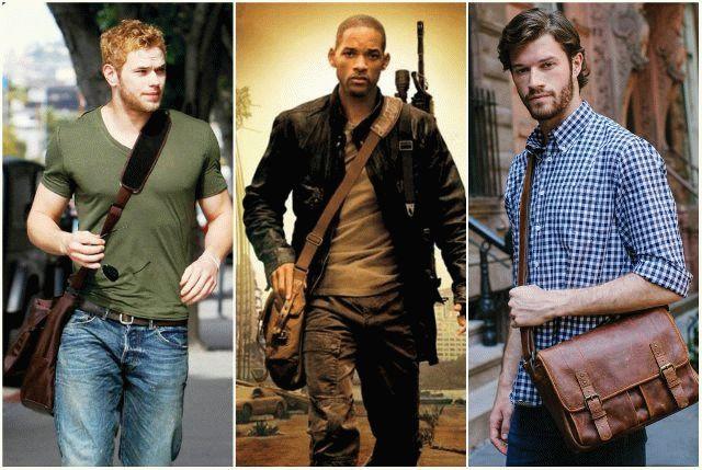 Стильные мужские сумки и барсетки через плечо