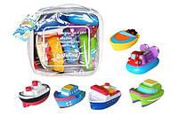 """Игрушки для ванной """"Кораблики"""" 6шт в сумке CQS608-6"""