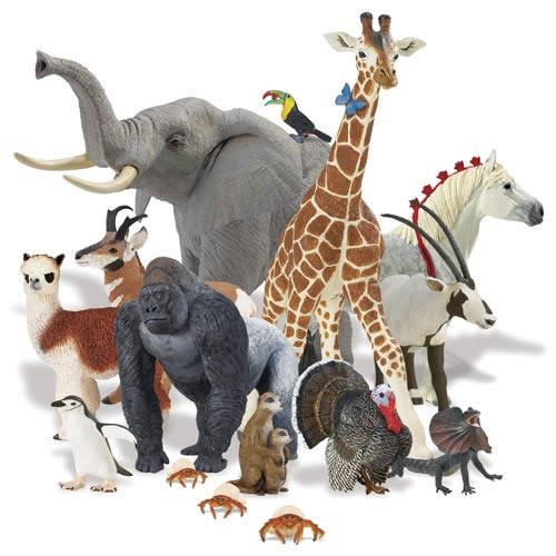 Фигурки животных, игрушки - пищалки