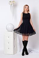 Нарядное платье с гипюром (черный)