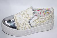 Детская обувь оптом.Подростковые слипоны от ТМ.С.Луч (разм. с 33 по 38)