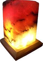 Бахмут Соляной светильник Прямоугольник 4 - 5 кг цветная лампа