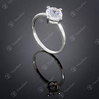 Серебряное кольцо с белым цирконом. Артикул П-138