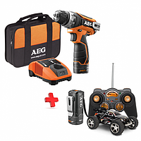 Аккумуляторный шуруповерт AEG + машинка на радиоуправлении BS12C2LI-152BRCC (4935459028)