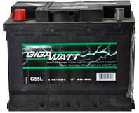 Аккумулятор Daewoo Lanos Sens (Део Ланос Сенс) GIGAWATT (Гигават) 56 Ач