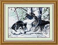 "Набор для рисования камнями (холст) ""Пара волков"" LasKo"